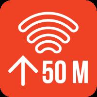 50m range logo