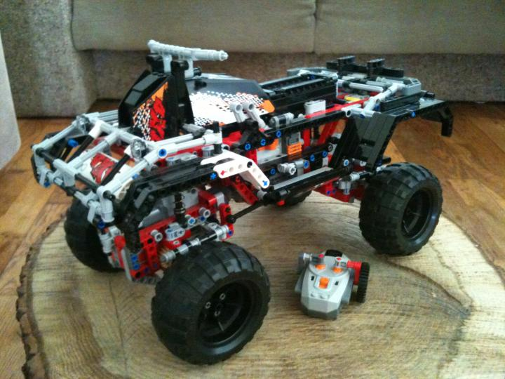 Lego quad build on chassis 9398